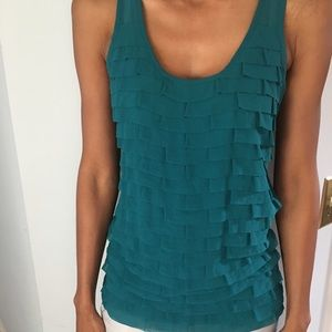 Ann Taylor emerald green top size small
